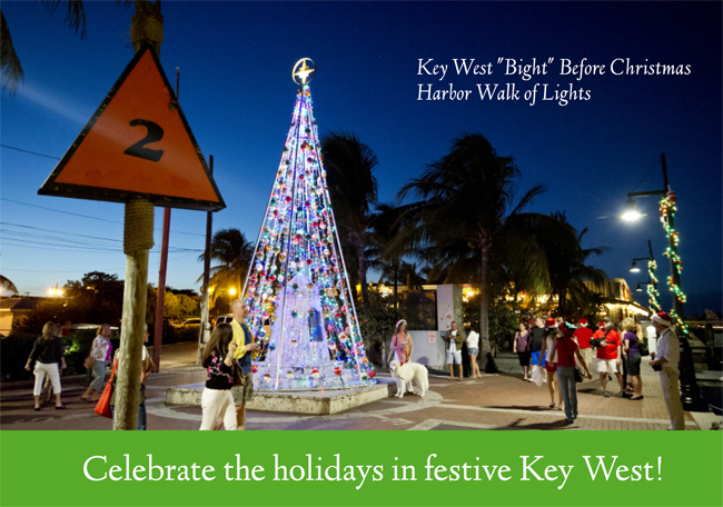 Christmas In Florida Keys.Official Lighting Of The Key West Harbor Walk Wednesday