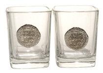 SHOT GLASSES SET: REPLICA SILVER COIN