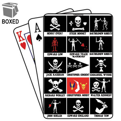 PIRATE FLAGS PLAYING CARDS BOXED (2 QTY)