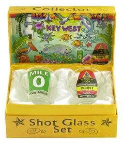 KEY WEST SHOT GLASS COLLECTOR BOX SET