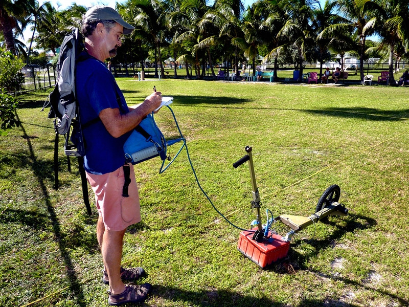 Ground Penetrating Radar Survey in Higgs Beach Dog Park, 2010