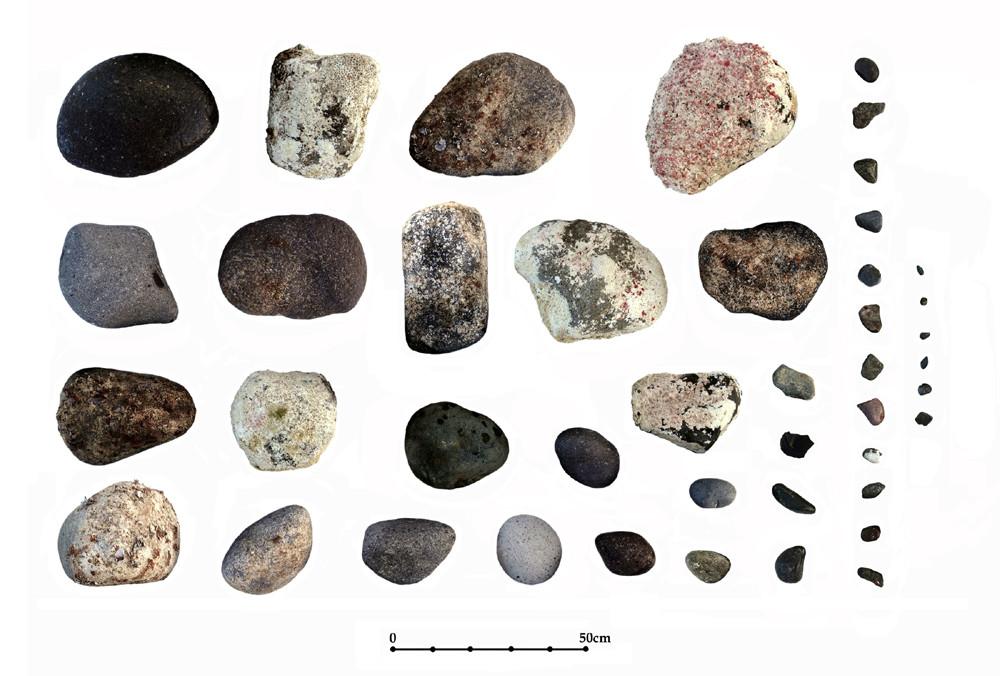 Muestreador de lastre de piedra