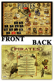 PIRATE PLACEMAT (4 QTY)
