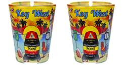 KEY WEST SUNSET SHOT GLASS (2 QTY)