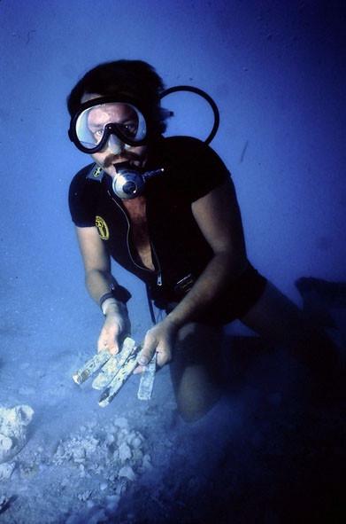 Diver with Gold Bars, Santa Margarita, 1980