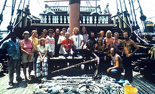The Treasure Salvors crew, 1975.