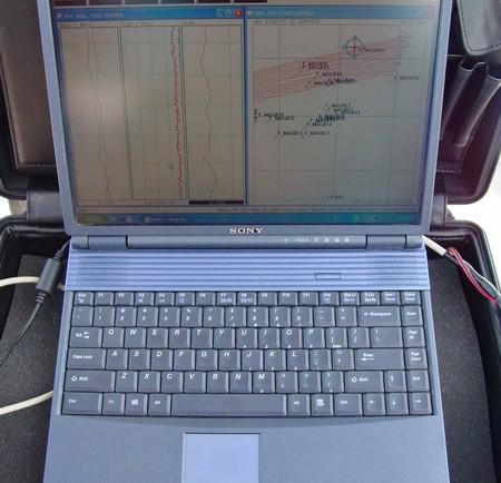 Magnetometer Data on Computer