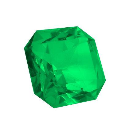 Large Emerald/Sapphire Glass
