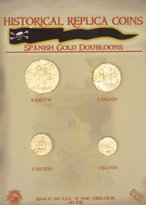 SPANISH GOLD DOUBLOONS (4)