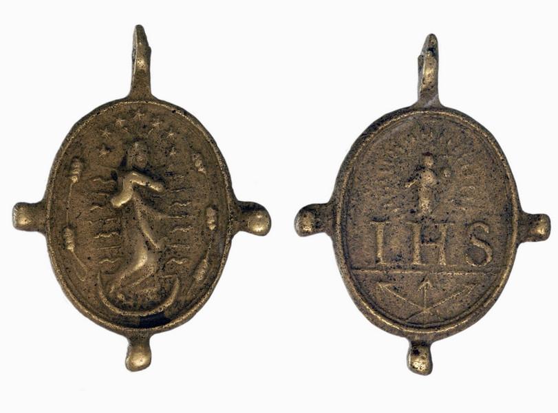 Bronze Religious Medallion