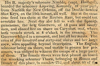 An account of Guerrero and Nimble in Nile's Register, 1828.