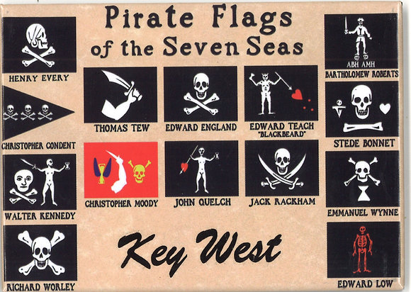 PIRATE FLAGS MAGNET (2 QTY)