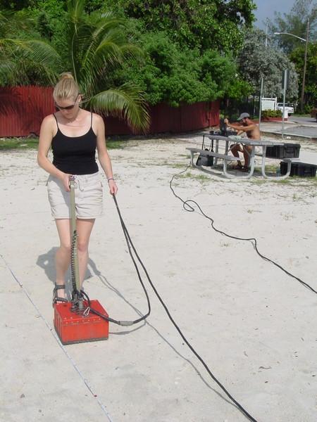 Ground Penetrating Radar Survey at Higgs Beach, 2002