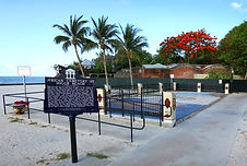 The Key West African Cemetery Memorial at Higgs Beach.