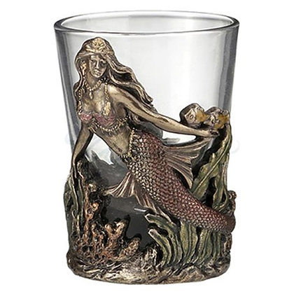 SWIMMING MERMAID SHOT GLASS