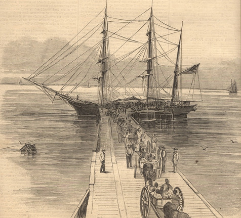Transporting Africans Rescued from the William to Shore