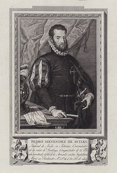 Pedro Menéndez de Avilés, owner of the galleon Santa Clara and founder of St. Augustine, Florida. Image: Library of Congress.