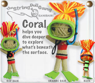 CORAL STRING DOLL