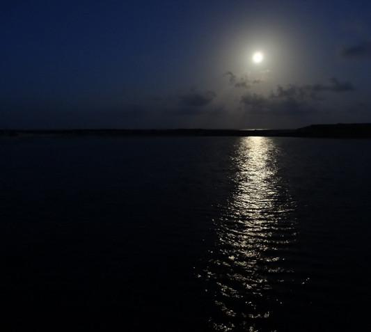 Moon over Lynyard Cay