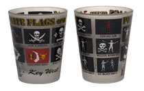 SHOT GLASSES: PIRATE FLAGS OF THE 7 SEAS (2 QTY)