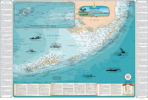SHIPWRECKS OF THE FL KEYS NAUTICAL CHART-LAMINATED