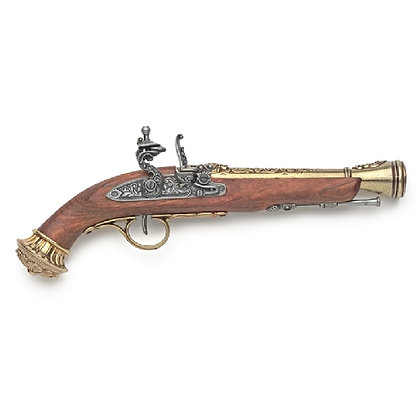 PISTOL: PIRATE FLINTLOCK WITH BRASS FINISH