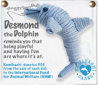 DESMOND THE DOLPHIN STRING DOLL