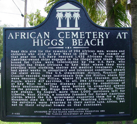 State of Florida Historical Marker for the African Cemetery