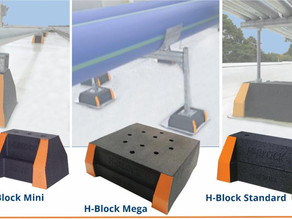 Haydon's H-Block Rooftop Supports are Compatible With Most Rooftop Materials and Configurations