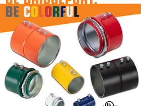 Bridgeport's Color-Coded EMT Steel Connectors and Couplings Make Circuit Identification Easy