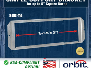 """Orbit's Telescoping Bracket can Support Multiple Square Boxes and can Adjust from 15"""" - 25"""""""