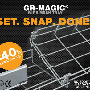 Connect Cable Tray in a Single Snap With Chalfant's GR-Magic Wire Mesh Tray
