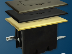 Allied Moulded Now Offers Floor Box Assemblies in Rough-In and Trim-Out Configurations