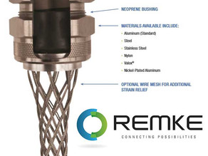 Remke Offers Industrial-Strength Cable Strain Relief With Cord Grips!