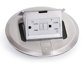 Lew Electric's PUFP-S is a Round Floor Box Cover That Provides Hidden Power in a Sleek Pop-Up