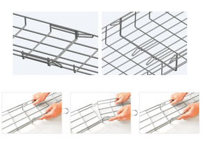 Techtray Wire Mesh Cable from MP Husky Allows for Quick Installs Without Tools!