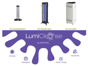 Sanitize any Space With LumiCleanse Products From Light Efficient Design!