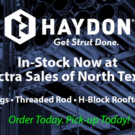 Haydon is IN-STOCK NOW at Electra Sales of North Texas!