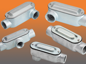 All-new Malleable Conduit Bodies from Bridgeport Ship Complete With Cover and Gasket