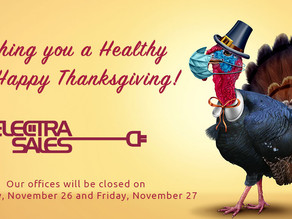 Happy Thanksgiving From Your Friends at Electra Sales!