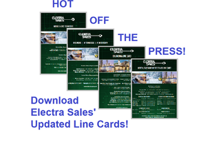 Download Electra Sales' Updated Line Cards!