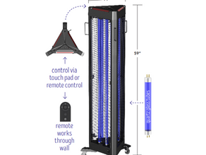 Light Efficient Design Introduces the all-new UV-C Tower Germicidal Fixture