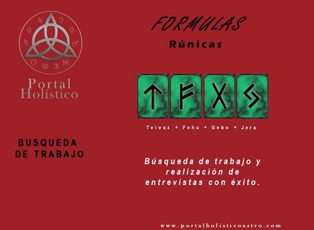 FORMULA RUNICAS DE TRABAJO