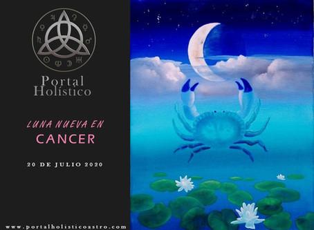 LUNA NUEVA EN CANCER 20 DE JULIO 2020