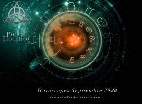 HOROSCOPOS SEPTIEMBRE 2020