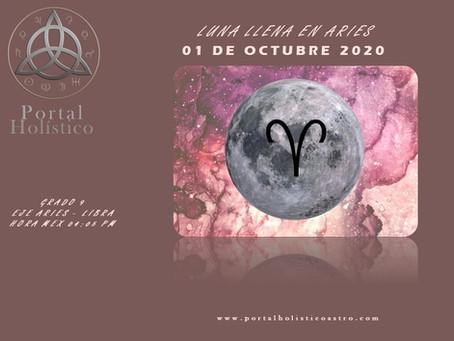 LUNA LLENA EN ARIES 01 DE OCTUBRE 2020