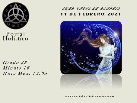 LUNA NUEVA EN ACUARIO 11 DE FEBRERO 2021