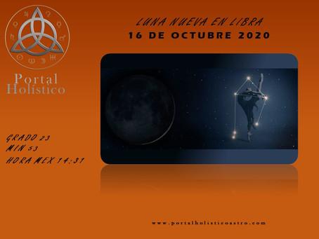 LUNA NUEVA EN LIBRA 16 DE OCTUBRE 2020