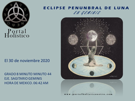 ECLIPSE PENUMBRAL DE LUNA 30 DE NOVIEMBRE 2020