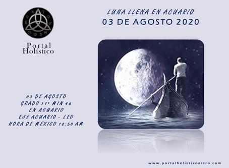 LUNA LLENA EN ACUARIO 03 DE AGOSTO 2020